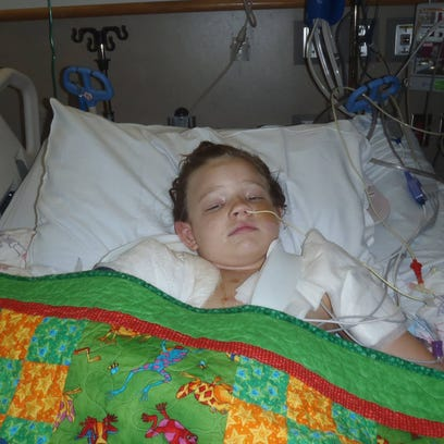 Emily's 32-day stay in the hospital had many ups and