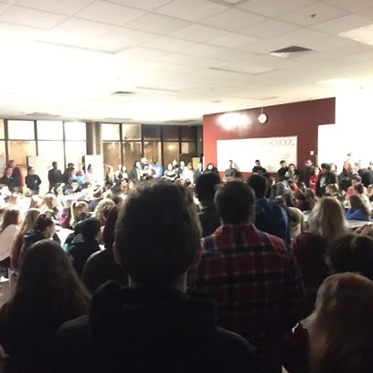 Students, faculty and community members packed the