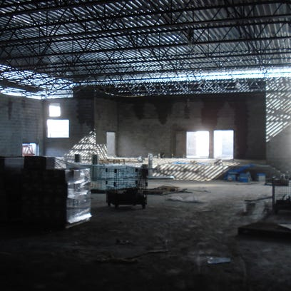 Interior construction  of Rocky Fork Middle, being