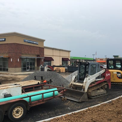 Retail construction continues along the Madison Street