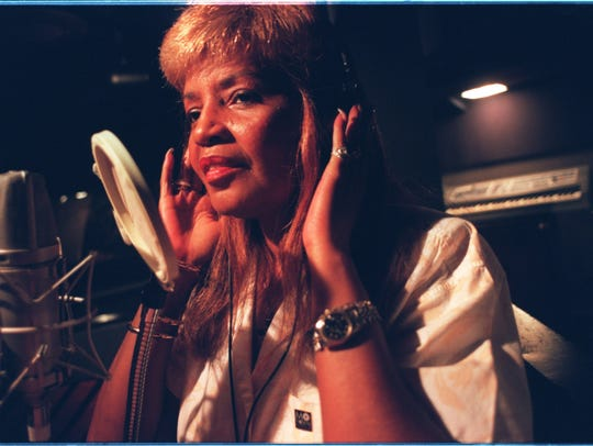 Songwriter Sylvia Moy in her Masterpiece Studios in