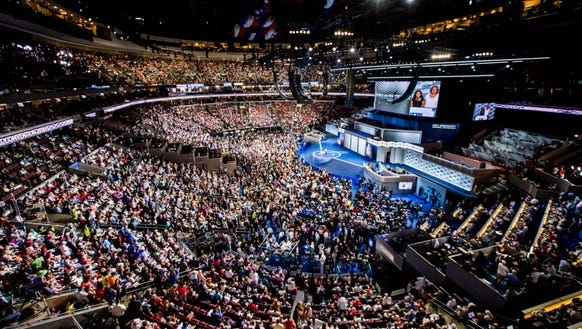 Day one of the Democratic National Convention in Philadelphia.