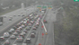 Accident blocks center two lanes on I-90 EB at W. 25th