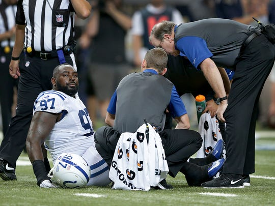 Jones tore ligaments in his left ankle on the first play of the third preseason game last August.