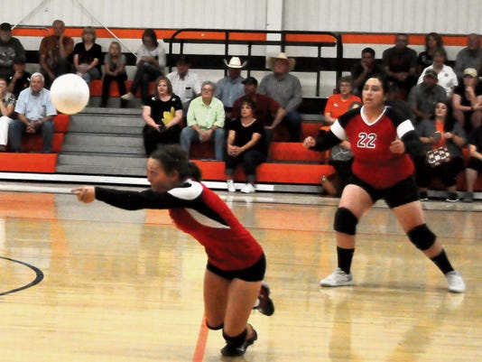 Carrizozo's volleyball team made a third place showing at the Mountaintop Tourney in Cloudcroft Friday and Saturday.
