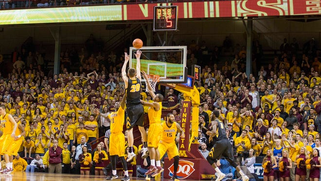 Iowa's Jarrod Uthoff likes the ball in his hands at crunch time.