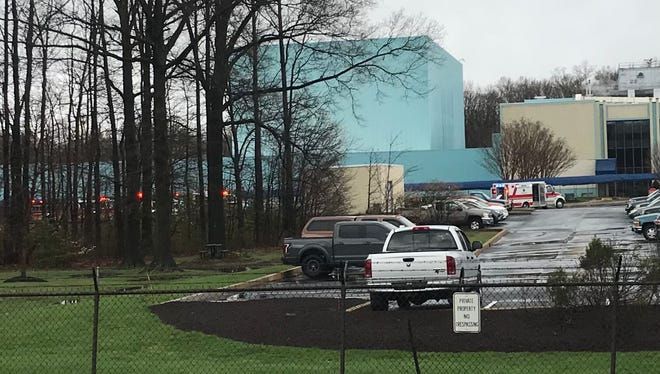 First responders at AstraZeneca's Old Baltimore Pike location for reports of a structure fire.