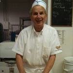 Melvin Gallenberger is pictured about a year and a half ago making potato rolls at Oostburg Bakery, which is now owned by his son. Gallenberger died last week as a result of burns he sustained during an accident at the bakery.