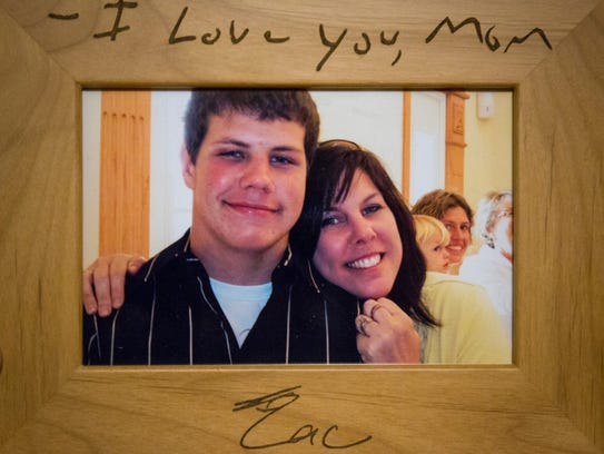 Brenda Easter in a photo with her son Zac Easter.