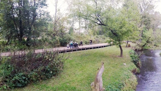 A Yahara WINS grant funded streambank restoration by the Village of DeForest.