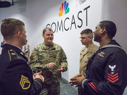 Comcast veterans Staff Sgt. Brian Fox of the Indiana