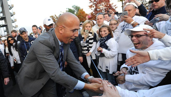 Even still, Penn State coach James Franklin says one of his toughest jobs is balancing optimism with realism among supporters as he builds the program back.