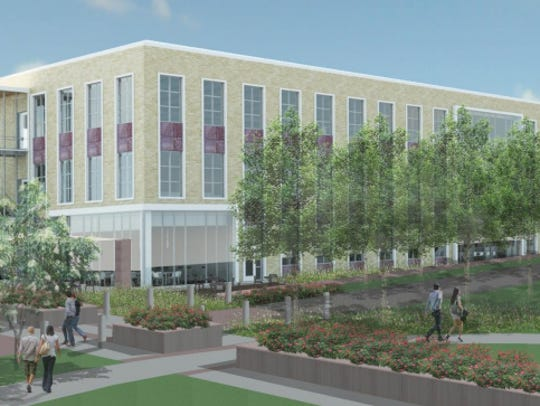 An architectural rendering of the $22 million Sioux Falls city administration building.