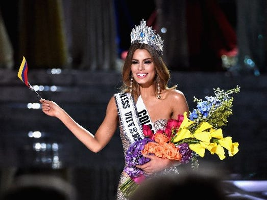 Miss Colombia 2015, Ariadna Gutierrez, is incorrectly