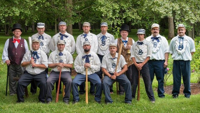 The Spiegel Grove Squires, the vintage base ball team at the Rutherford B. Hayes Presidential Library and Museums, play a home game at 1 p.m. Sunday. Admission is free.