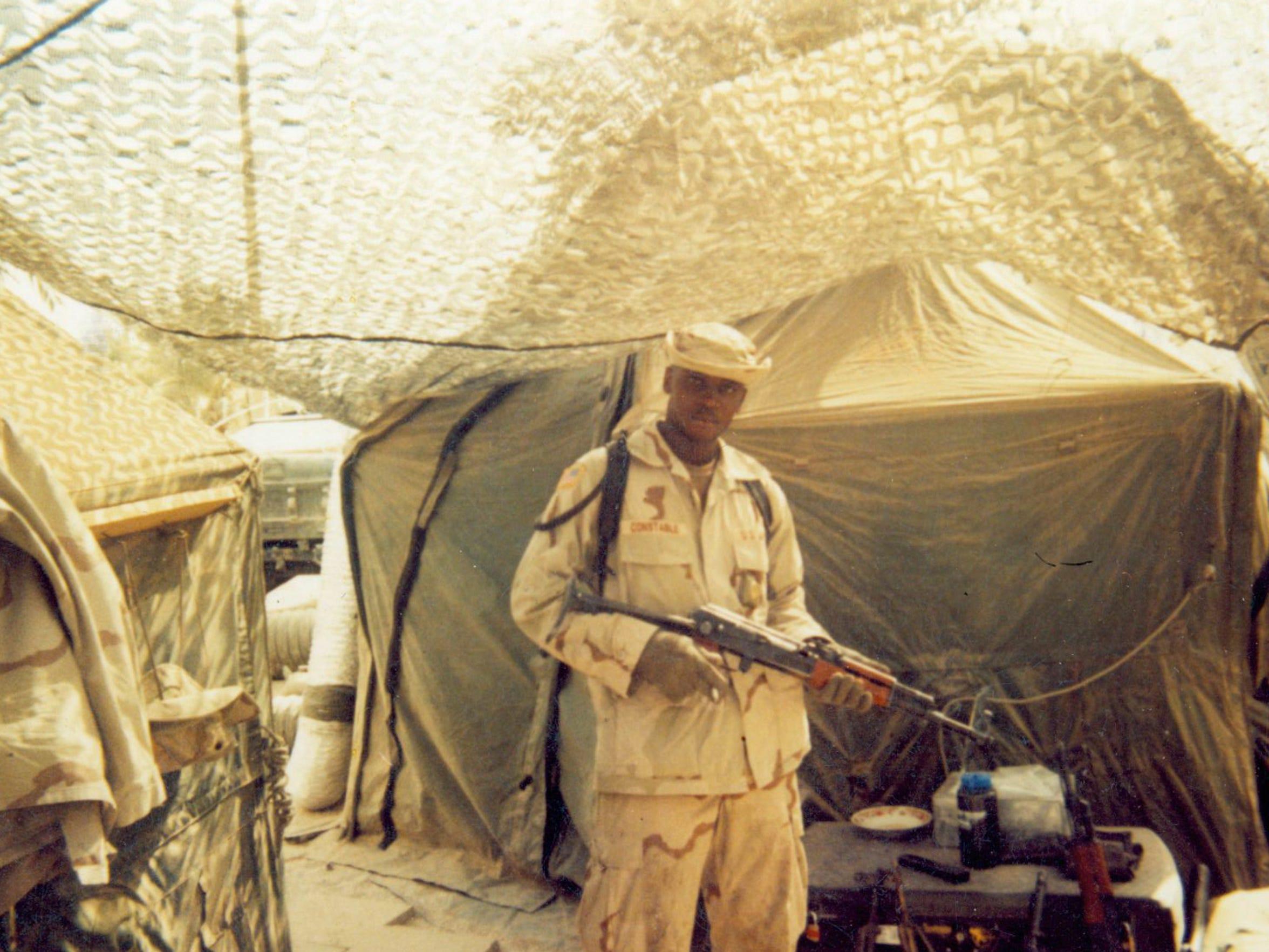 Agifa Constable in Iraq around 2003.