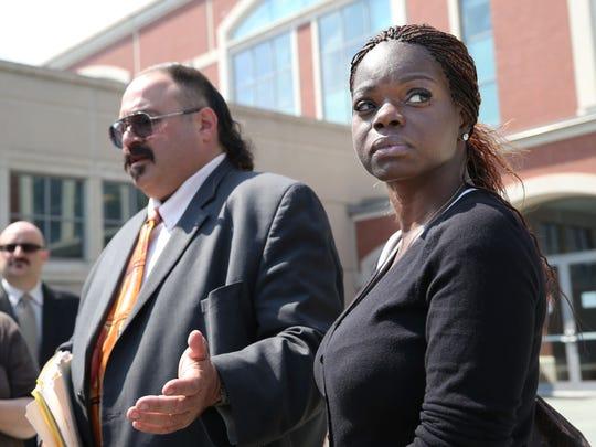 Attorney Evan Nappen, left, and Shaneen Allen of Philadelphia