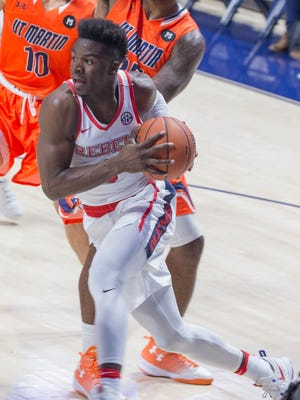 Ole Miss' Terence Davis scored 19 points off the bench in Friday's win against UT-Martin.