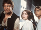 From left, Harrison Ford, Carrie Fisher and Mark Hamill