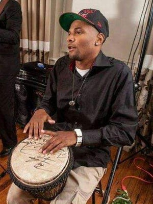 Duron Marquis Hale performs on his djembe.