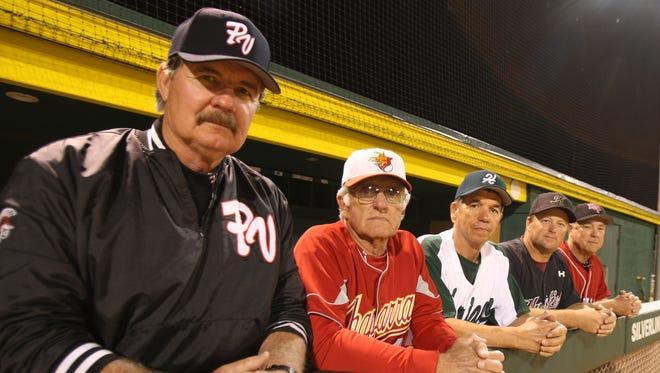 Roy Muller (far left)