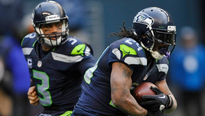 Seahawks quarterback Russell Wilson and running back Marshawn Lynch make for a strong 1-2 punch offensively.