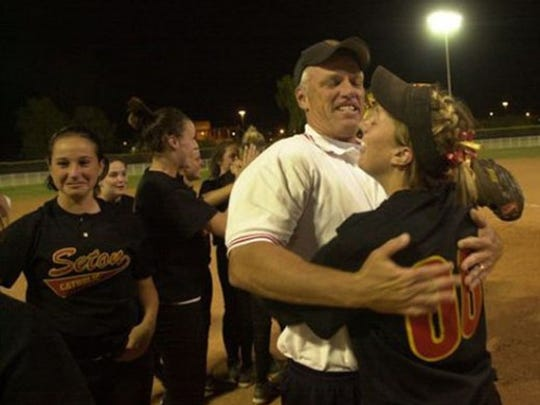 Jerry Mullin has more state titles than any coach in Arizona high school softball history.