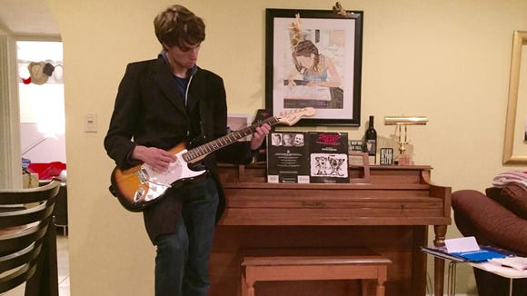 All my teenage son wanted for Christmas was an electric guitar.