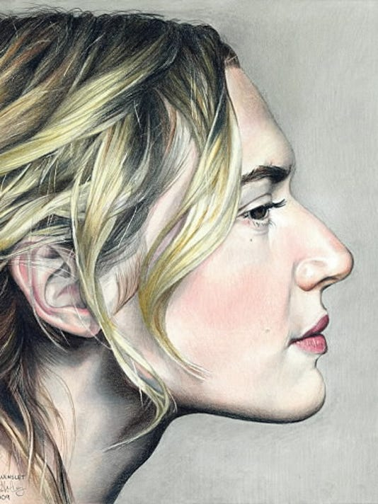 Erin Holberg drew this picture of actress Kate Winslet. Holberg said she first discovered her talent in ninth grade when she drew a picture of Bono for her dad.