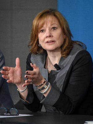 Mary Barra told a conference of analysts Wednesday that GM will continue to pursue ride-sharing, alternative propulsion and autonomous mobility despite uncertainty over how profitable they will be.