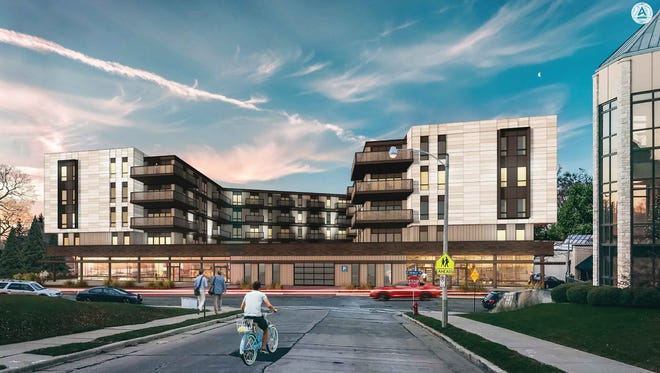 During a public hearing at the May 15 council meeting residents provided their thoughts on a proposed five-story, 72-unit apartment building with street-level commercial space development on Harwood Avenue.