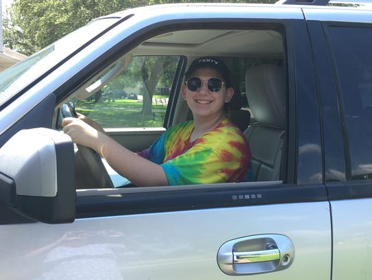 Anabella Campbell, 15, of Alexandria took driver's