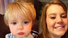 Zane Alexander Walters, 2, and his mother Erica Leeanne Walters, 17