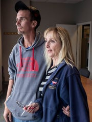 Addict Ryan Young and his mother Debbie Alfred meet on Friday to exchange money as a means of keeping Young on track with his recovery and caught up on his bills. 9/1/17