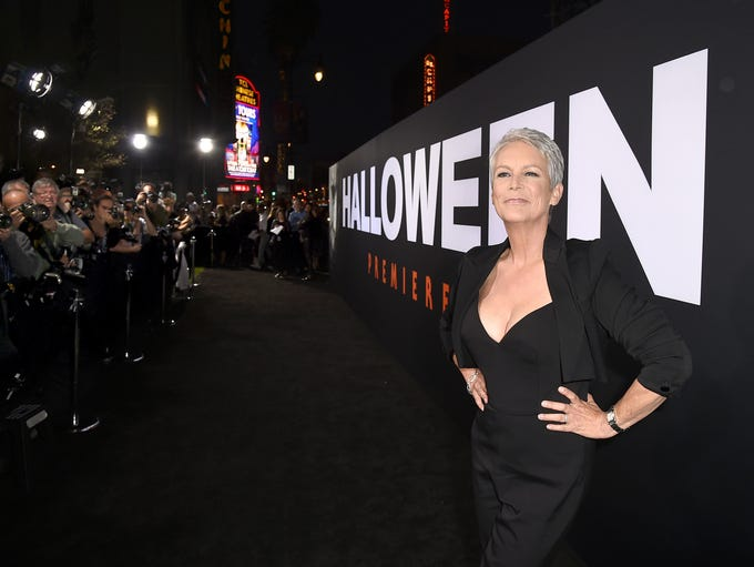 Hollywood's first Scream Queen, Jamie Lee Curtis, arrives