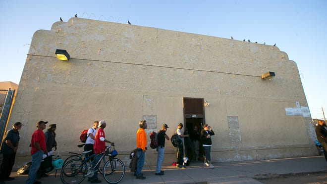 The Central Arizona Shelter Services men's overflow shelter in Phoenix on Tuesday, March 24, 2015.