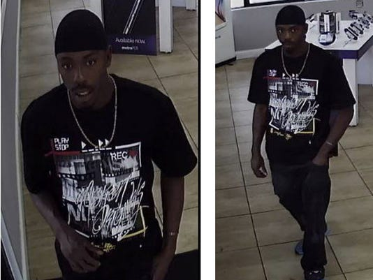 Strong armed robbery suspect
