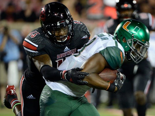 NCAA Football: Miami at Louisville