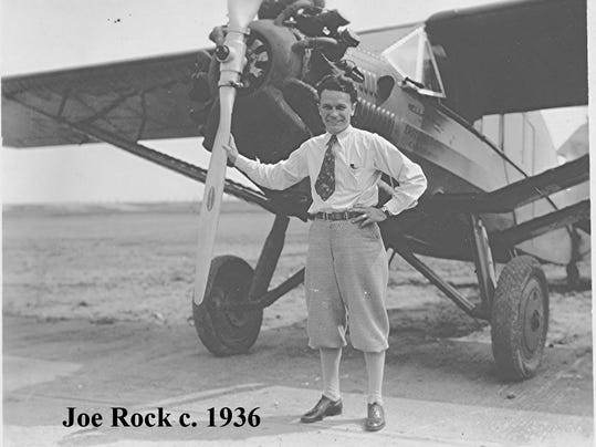 joe with stinson plane early 30s