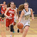 Beacon's Leah Giavatto keeps the ball away from Tappan Zee's Ashley Shallweesan during Friday's game at Beacon.