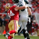 San Francisco 49ers defensive end Justin Smith (94) announced his retirement on Monday in the latest blow to the team this offseason.