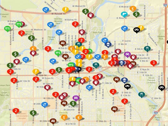 Sioux Falls Crime Map