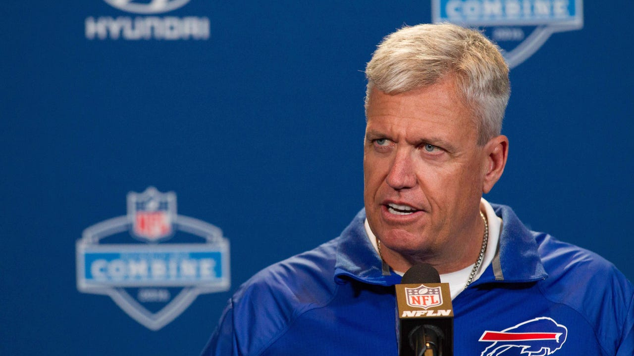 Rex Ryan at the scouting combine