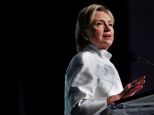 Democratic presidential candidate Hillary Clinton speaks at the Congressional Black Caucus Foundation's Phoenix Awards Dinner at the Washington Convention Center in Washington, Saturday, Sept. 17, 2016.