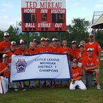 The Marine City 12-and-under baseball team won a district championship