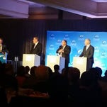 The first gubernatorial debate was in front of 600 people.