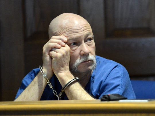 Jeffrey Hamm listens to Fairfield County Prosecutor Gregg Marx speak during Hamm's change of plea and sentencing hearing Thursday, April 9, 2015, in Fairfield County Common Pleas Court in Lancaster. Hamm pleaded guilty to possession of heroin and aggravated possession of drugs, both fifth degree felonies, and was sentenced to 16 months in prison. Hamm is still facing murder charges in relation to the disappearance of his wife Terri Jo Hamm.