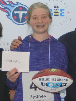 Sydney Aslan will represent Middle Tennessee at a national spelling bee.
