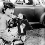 Japanese Americans sent to an internment camp in Bainbridge Island, Wash., in 1942.