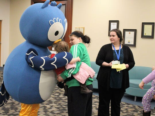Swoop, the mascot for the library's children department,